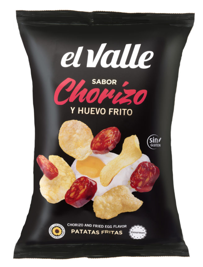 Chorizo And Fried Egg Potato Chips