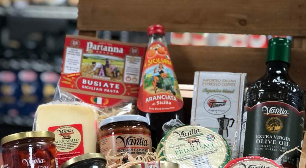 Sicilian themed gift basket