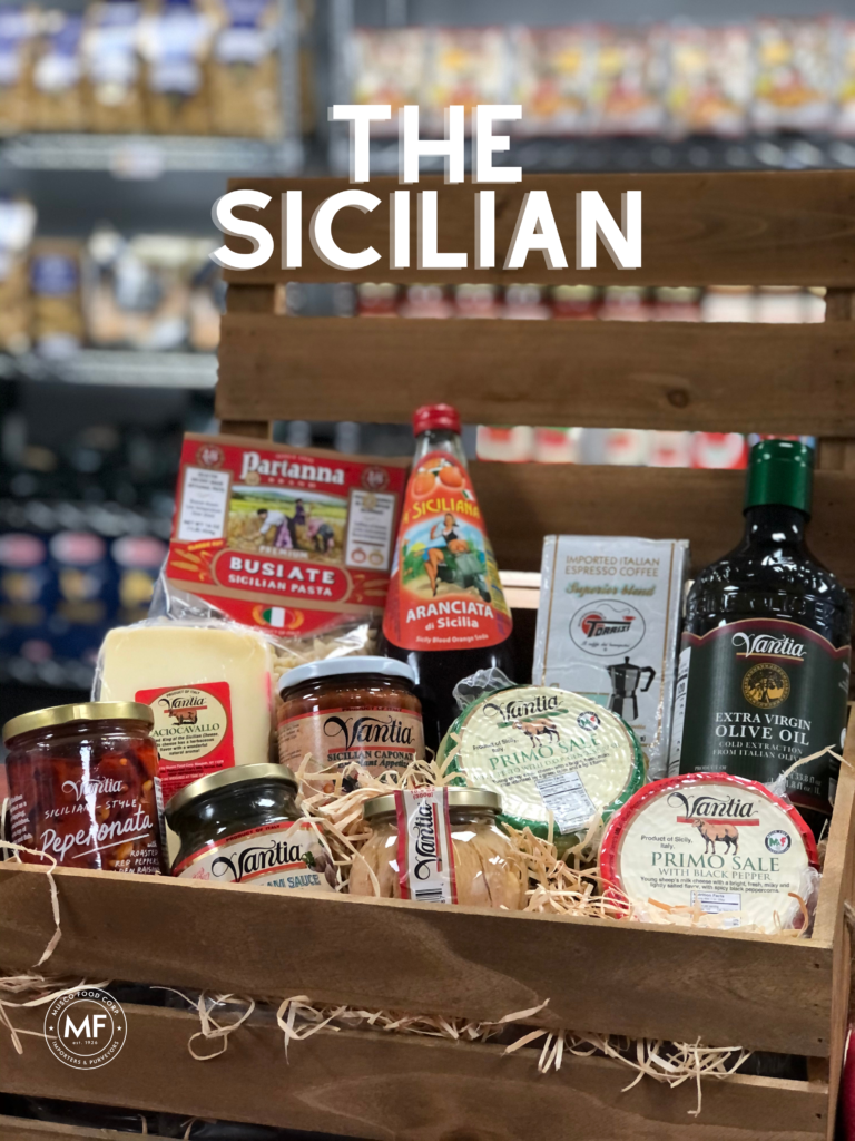Sicilian themed gift basket